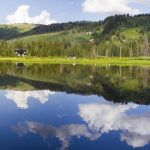 Silver Lake Panorama in Big Cottonwood Canyon Utah
